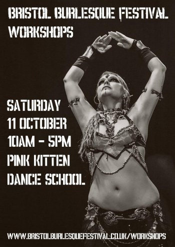 Bristol Burlesque Festival workshops at Pink Kitten Dance School. 11 October 2014.